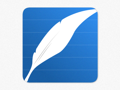 Feathers app icon feather blue