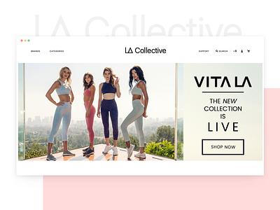 LA Collective - Website Design los angeles ecommerce clothing ux typography website ui