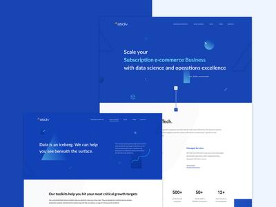 Website - Atidiv graph website process tech analytics numbers futuristic datascience ux ui