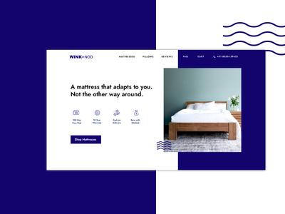 Wink & Nod Website cash shop icons custom doze wink pillow mattress bed sleep ux ui