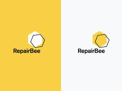 RepairBee Logo fix repairbee identity phone device gadget honey yellow branding repair bee logo