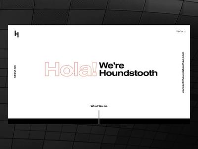 Houndstooth SC houndstooth website ui typography agency web design