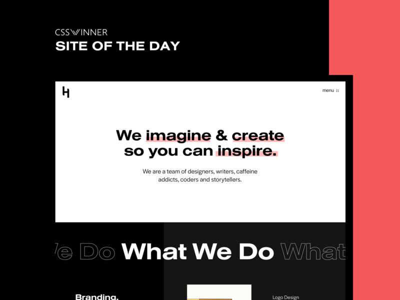 Site of the Day - CSS Winner typography design ux css csswinner award website ui design ui