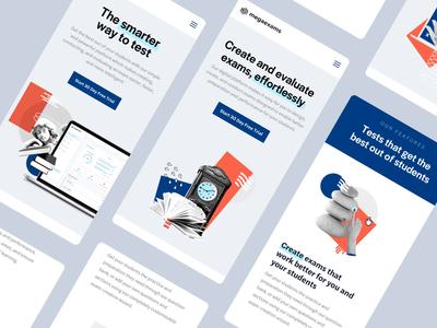 MegaExams Mobile web webdesign mobile photobash ui illustration