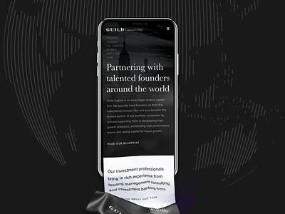 Guild Capital entrepreneur finance vc typography minimal tech design ux website ui