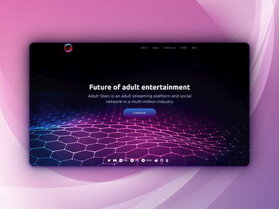 Landing page for a streaming platform front end design front end dev front end development developer landing design landing  page landing
