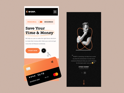 WORP. - Responsive Mobile Ui testimonial payment method bank service banking responsive design design website web ui creative clean payment