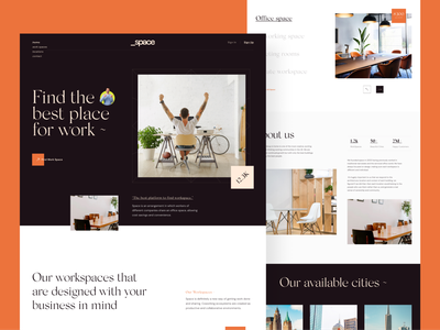 _Space. Co-working Space Website office design workspace website design coworking landing page landing page office space working space co-working coworking co-working space ux ui website