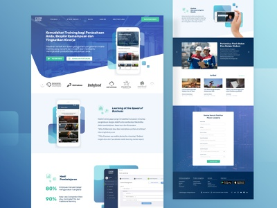 Ruangkerja by Ruangguru Landing Page figmadesign employee blue learning lms elearning ui ux design ux design ui design landing page design landing page ruangguru ruangkerja figma sketchapp sketch