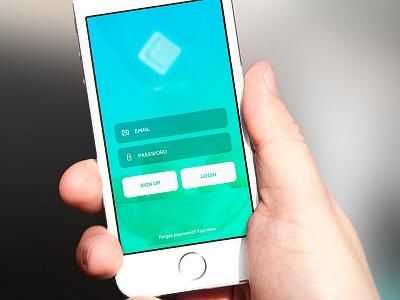 Login Screen apples green blue user experience user interface design login app ios