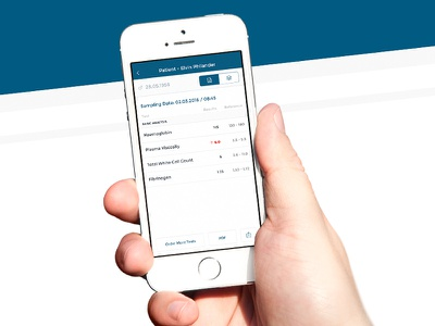 Patient Tests Results patient blue tests results doctor health mobile app user experience user interface ios app