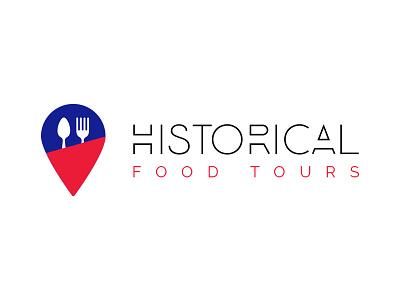 Historical Food Tours Logo logo design logotype iconography food brand identity logo