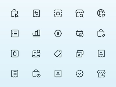 Myicons — Shopping, Ecommerce vector line icons