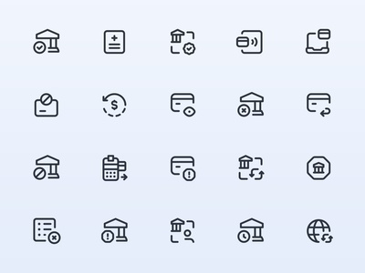 Myicons — Finance, Payments vector line icons pack