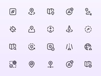 Myicons — Navigation, Maps vector line icons pack