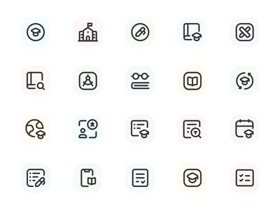 Myicons — School, Learning vector line icons pack web ui web designer web design ui set ui pack ui kit ui icons ui designer ui design ui myicons line icons interface icons icons pack icons design icons icon pack icon design flat icons essential icons