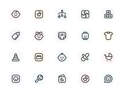 Myicons — Baby, Children, Toys vector line icons pack web ui web designer web design ui set ui pack ui kit ui icons ui designer ui design ui myicons line icons interface icons icons pack icons design icons icon pack icon design flat icons essential icons