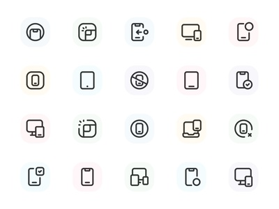 Myicons — Mobile Devices vector line icons pack web ui web designer web design ui set ui pack ui kit ui icons ui designer ui design ui myicons line icons interface icons icons pack icons design icons icon pack icon design flat icons essential icons