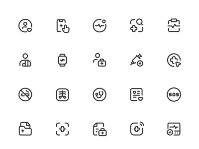 Myicons✨ — Health, Medicine vector line icons pack sketch web ui web designer web design ui set ui pack ui kit ui icons ui designer ui design ui sketchicons line icons interface icons icons pack icons design icons icon pack icon design essential icons