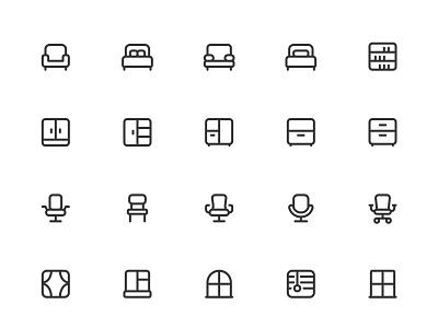 Myicons✨ — Furniture, Home vector line icons pack sketch web ui web designer web design ui set ui pack ui kit ui icons ui designer ui design ui sketchicons line icons interface icons icons pack icons design icons icon pack icon design essential icons