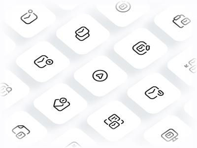 Myicons✨ — Emails vector line icons pack sketch web ui web designer web design ui set ui pack ui kit ui icons ui designer ui design ui sketchicons line icons interface icons icons pack icons design icons icon pack icon design essential icons