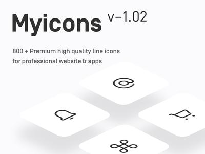 Myicons - 800+ Premium Vector line Icons