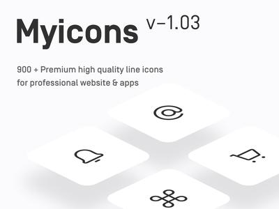 Myicons — 900+ Premium Vector line Icons