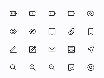 Myicons — Interface, Essential line icons