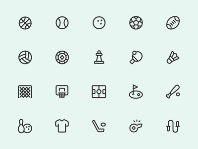 Myicons — Sports Line Icons