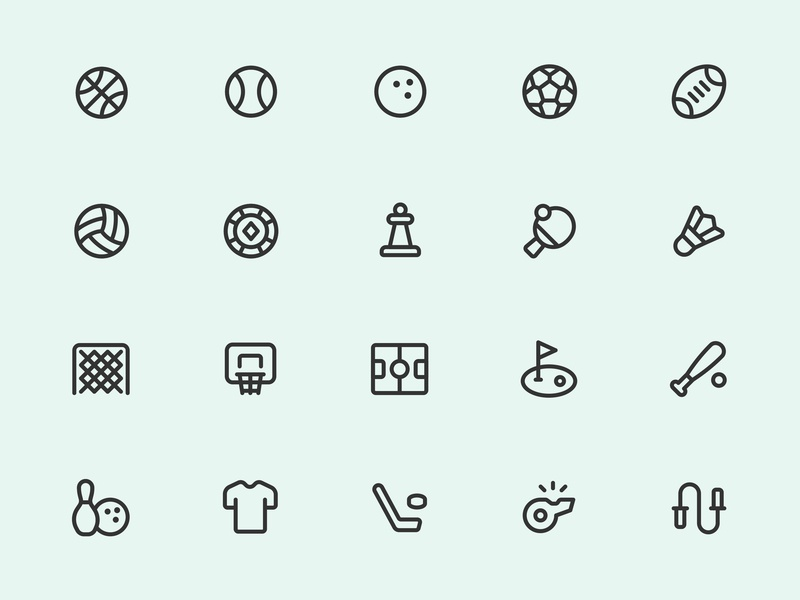 Myicons — Sports Line Icons by Myicons✨ on Dribbble