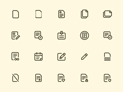 Myicons — Content line Icons