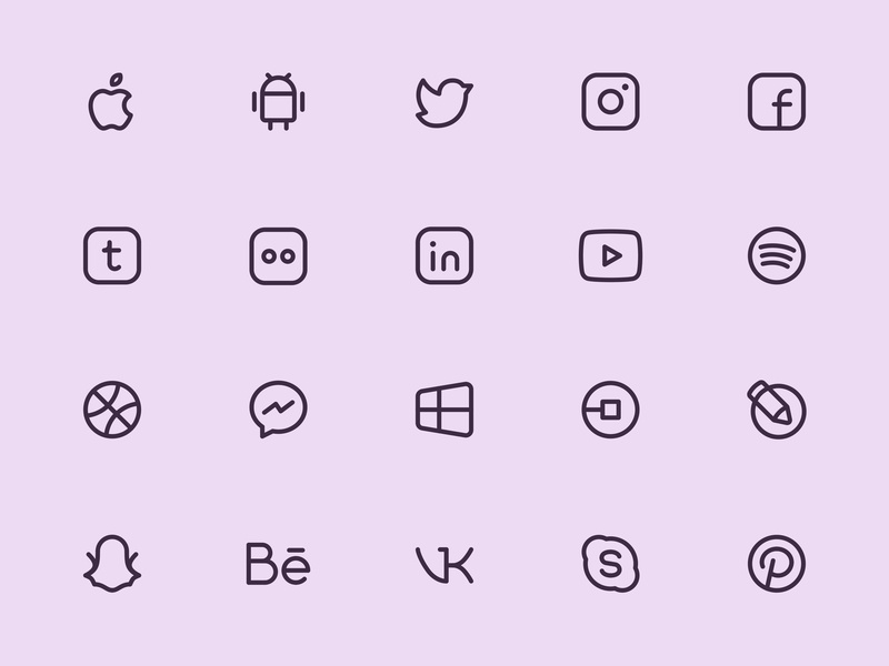 Myicons — Social, Media line icons icon pack ui icons icon icons icon collection web designer social icons icons design web design icons set interface icons icon set ui design icons pack icon design flat icons myicons line icons ui designer ui