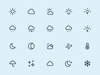 Myicons — Weather, Climate line icons