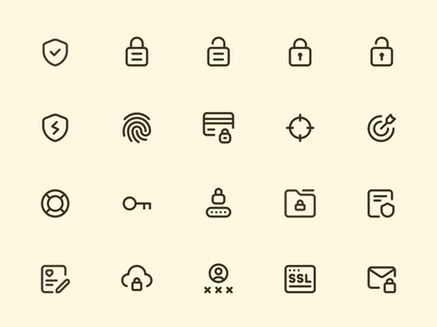 Myicons — Protection, Security line icons