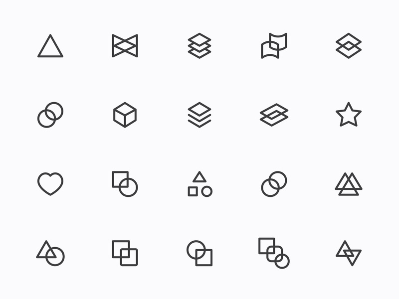 Myicons — Geometric, Abstract line icons by Myicons✨ on