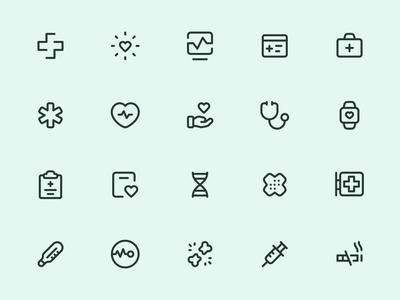 Myicons — Health, Medicine line icons