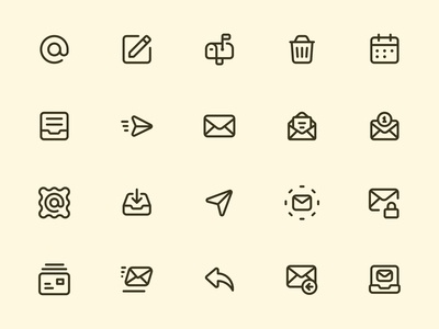 Myicons — Emails, Mail line icons