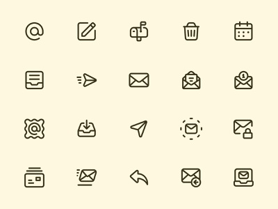 Myicons — Emails, Mail line icons mail icons ui kit essential icons icon collection icon pack web designer web design icons design flat icons icon design myicons icons pack interface icons falt icons icons line icons ui designer ui icons ui design ui