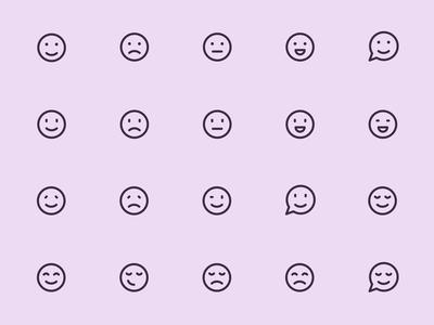 Myicons — Smileys vector line icons