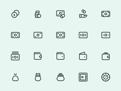 Myicons — Money, Coins line icons