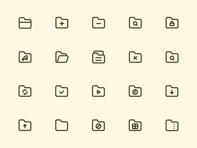 Myicons — Folders line icons