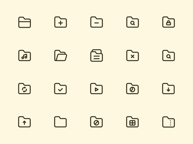 Myicons — Folders line icons ui kit icons set icon collection ui web design icons icon pack essential icons icons pack icons design web design web designer icon design interface icons myicons flat icons line icons ui icons ui designer ui design ui