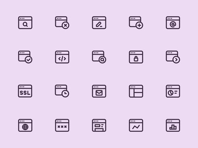 Myicons — Web, Browser line icons