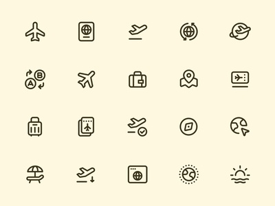 Myicons — Travel line icons