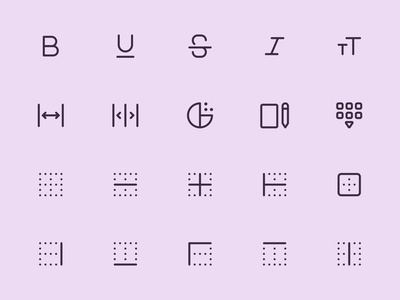 Myicons — Edit, Content line icons