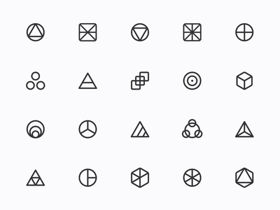 Myicons — Geometric, Abstract line icons