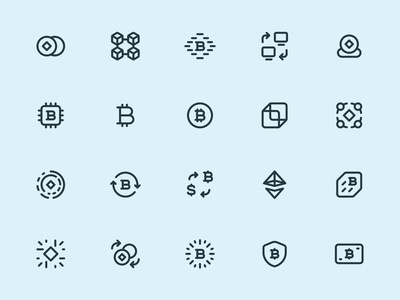Myicons — Crypto, Currency line icons