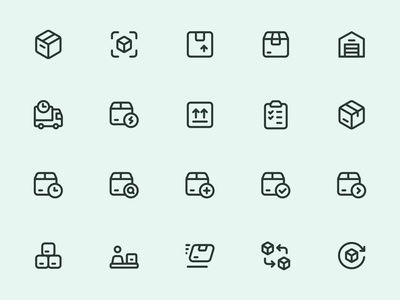 Myicons — Delivery, Shipping line icons