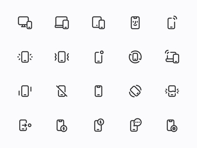 Myicons — Pones, Mobile, Iphone line icons
