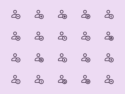 Myicons — Single User vector line icons